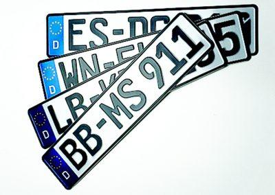 Kennzeichen-Auto