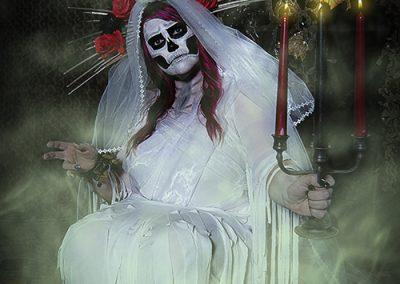 Santa Muerte-Kerzenständer