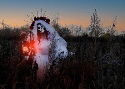 Santa Muerte-Lampe
